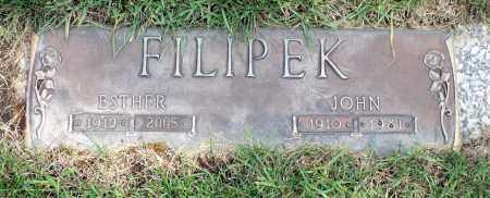 LUSADER FILIPEK, ESTHER - Cook County, Illinois | ESTHER LUSADER FILIPEK - Illinois Gravestone Photos