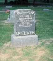 WILKINS MCELWEE, ALICE MAE - Cumberland County, Illinois | ALICE MAE WILKINS MCELWEE - Illinois Gravestone Photos