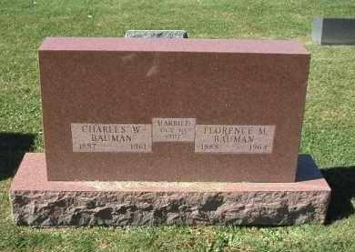 BAUMAN, FLORENCE - DeKalb County, Illinois | FLORENCE BAUMAN - Illinois Gravestone Photos