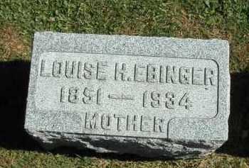 EBINGER, LOUISE - DeKalb County, Illinois   LOUISE EBINGER - Illinois Gravestone Photos
