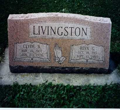 HAWKINS LIVINGSTON, REVA GLADYS - DeKalb County, Illinois | REVA GLADYS HAWKINS LIVINGSTON - Illinois Gravestone Photos