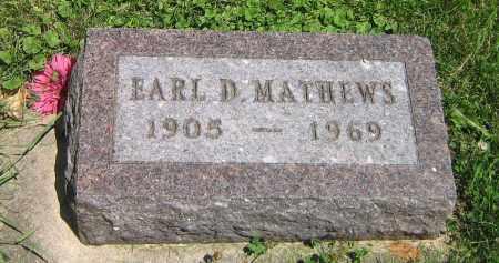 MATHEWS, EARL D - DeKalb County, Illinois | EARL D MATHEWS - Illinois Gravestone Photos