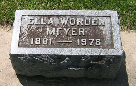 WORDEN MEYER, ELLA - DeKalb County, Illinois   ELLA WORDEN MEYER - Illinois Gravestone Photos