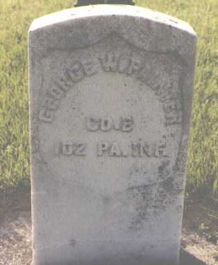 PAINTER, GEORGE W. - DeKalb County, Illinois | GEORGE W. PAINTER - Illinois Gravestone Photos