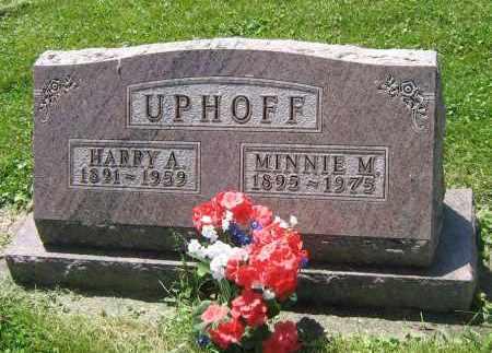 UPHOFF, MINNIE M - DeKalb County, Illinois | MINNIE M UPHOFF - Illinois Gravestone Photos