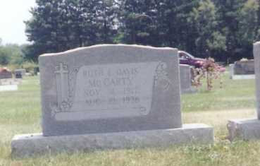 DAVIS MCCARTY, RUTH ELLEN - Douglas County, Illinois | RUTH ELLEN DAVIS MCCARTY - Illinois Gravestone Photos