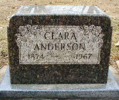 ANDERSON, CLARA - DuPage County, Illinois | CLARA ANDERSON - Illinois Gravestone Photos