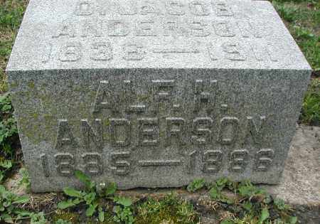 ANDERSON, ALFRED H. - DuPage County, Illinois | ALFRED H. ANDERSON - Illinois Gravestone Photos