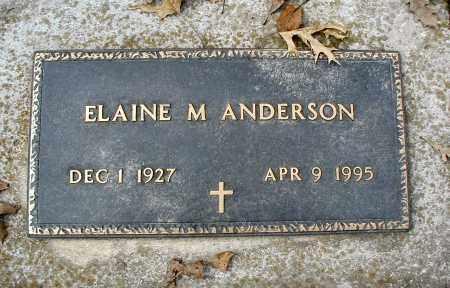 ANDERSON, ELAINE M - DuPage County, Illinois   ELAINE M ANDERSON - Illinois Gravestone Photos