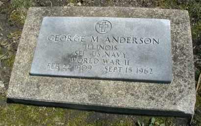 ANDERSON, GEORGE M. - DuPage County, Illinois   GEORGE M. ANDERSON - Illinois Gravestone Photos