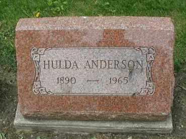 ANDERSON, HULDA - DuPage County, Illinois | HULDA ANDERSON - Illinois Gravestone Photos