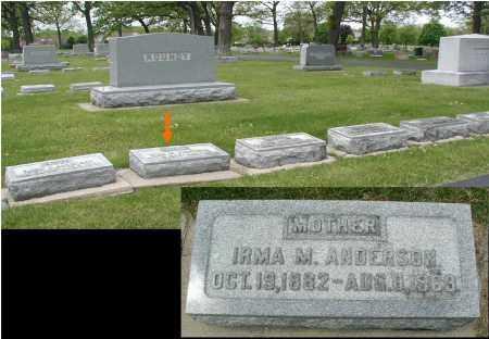 ANDERSON, IRMA M. - DuPage County, Illinois | IRMA M. ANDERSON - Illinois Gravestone Photos
