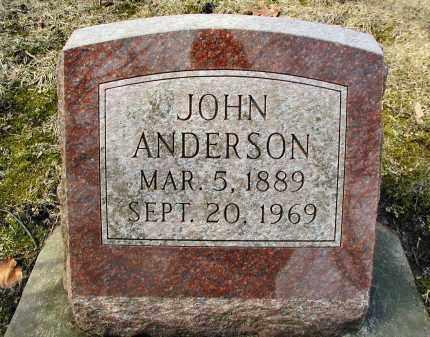 ANDERSON, JOHN - DuPage County, Illinois | JOHN ANDERSON - Illinois Gravestone Photos