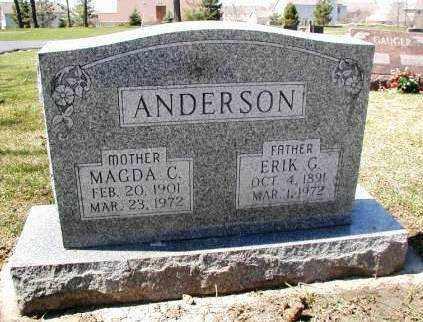 ANDERSON, ERIK G. - DuPage County, Illinois   ERIK G. ANDERSON - Illinois Gravestone Photos