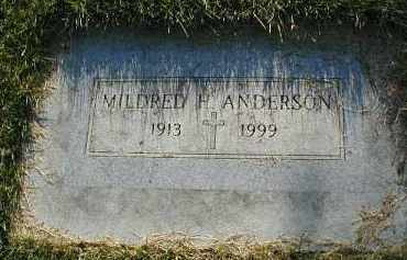 ANDERSON, MILDRED H. - DuPage County, Illinois | MILDRED H. ANDERSON - Illinois Gravestone Photos