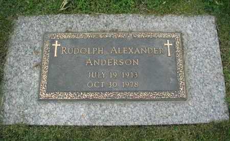 ANDERSON, RUDOLPH ALEXANDER - DuPage County, Illinois | RUDOLPH ALEXANDER ANDERSON - Illinois Gravestone Photos