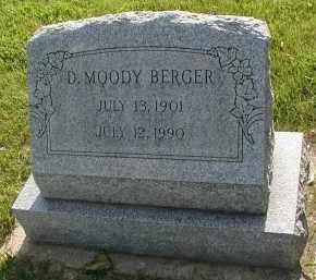 BERGER, D. MOODY - DuPage County, Illinois | D. MOODY BERGER - Illinois Gravestone Photos