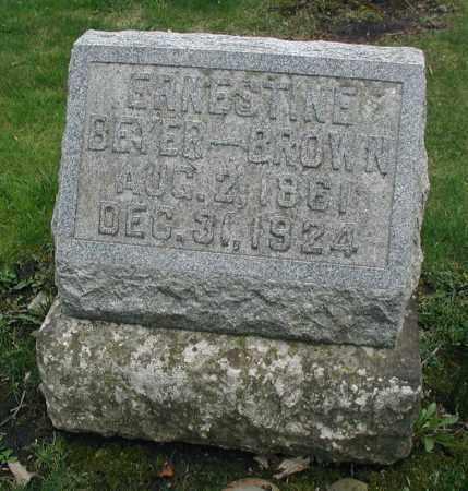 WRINGER BROWN, ERNESTINE - DuPage County, Illinois | ERNESTINE WRINGER BROWN - Illinois Gravestone Photos