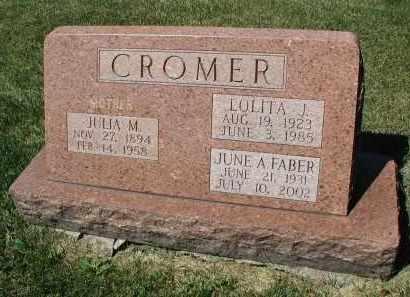 CROMER, JULIA M. - DuPage County, Illinois | JULIA M. CROMER - Illinois Gravestone Photos