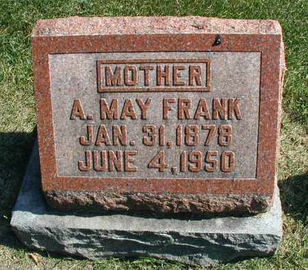 FRANK, A. MAY - DuPage County, Illinois | A. MAY FRANK - Illinois Gravestone Photos