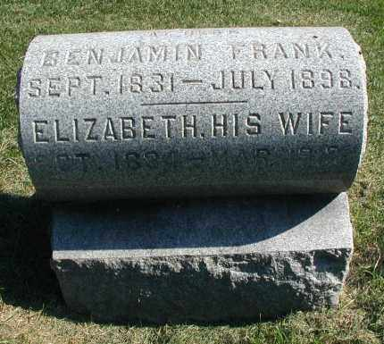FRANK, BENJAMIN - DuPage County, Illinois | BENJAMIN FRANK - Illinois Gravestone Photos