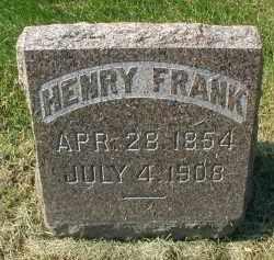 FRANK, HENRY - DuPage County, Illinois   HENRY FRANK - Illinois Gravestone Photos