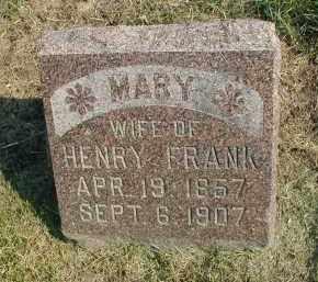 FRANK, MARY - DuPage County, Illinois | MARY FRANK - Illinois Gravestone Photos