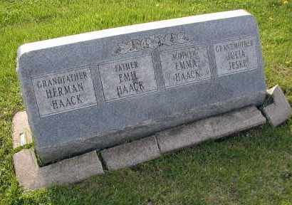 HAACK, EMMA - DuPage County, Illinois | EMMA HAACK - Illinois Gravestone Photos