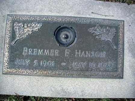 HANSON, BREMMER F. - DuPage County, Illinois | BREMMER F. HANSON - Illinois Gravestone Photos