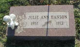 HANSON, JULIE ANN - DuPage County, Illinois | JULIE ANN HANSON - Illinois Gravestone Photos
