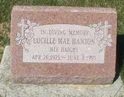HANSON, LUCILLE MAE - DuPage County, Illinois | LUCILLE MAE HANSON - Illinois Gravestone Photos