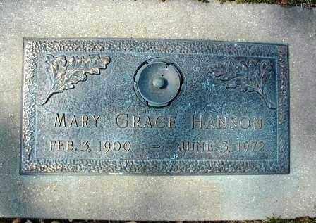 HANSON, MARY GRACE - DuPage County, Illinois | MARY GRACE HANSON - Illinois Gravestone Photos