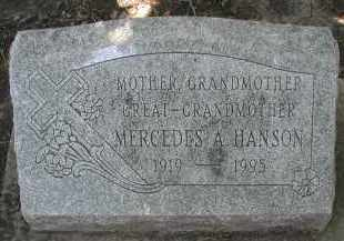 HANSON, MERCEDES A. - DuPage County, Illinois   MERCEDES A. HANSON - Illinois Gravestone Photos
