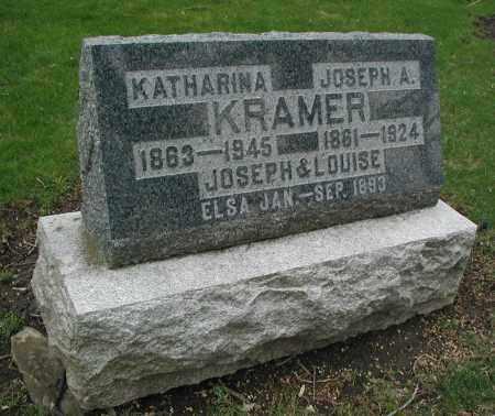 KRAMER, LOUISE - DuPage County, Illinois | LOUISE KRAMER - Illinois Gravestone Photos