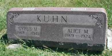 KUHN, ALICE M. - DuPage County, Illinois | ALICE M. KUHN - Illinois Gravestone Photos
