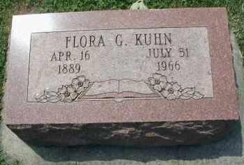 KUHN, FLORA G. - DuPage County, Illinois | FLORA G. KUHN - Illinois Gravestone Photos