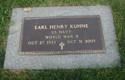 KUHNE, EARL HENRY - DuPage County, Illinois | EARL HENRY KUHNE - Illinois Gravestone Photos