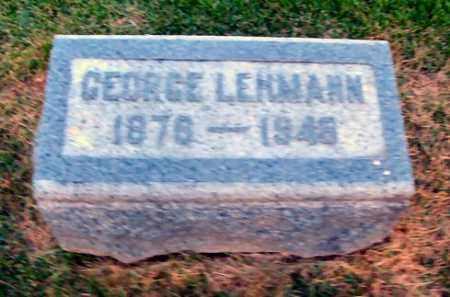 LEHMANN, GEORGE - DuPage County, Illinois | GEORGE LEHMANN - Illinois Gravestone Photos