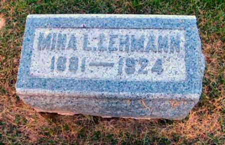 LEHMANN, MINA L. - DuPage County, Illinois | MINA L. LEHMANN - Illinois Gravestone Photos