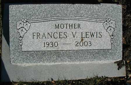 LEWIS, FRANCES V. - DuPage County, Illinois | FRANCES V. LEWIS - Illinois Gravestone Photos