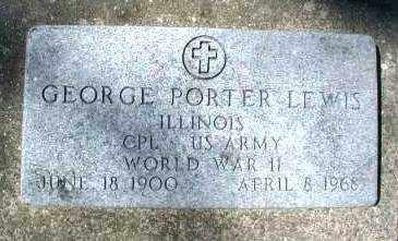 LEWIS, GEORGE PORTER - DuPage County, Illinois | GEORGE PORTER LEWIS - Illinois Gravestone Photos