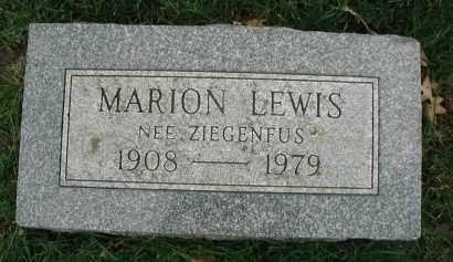 LEWIS, MARION - DuPage County, Illinois   MARION LEWIS - Illinois Gravestone Photos