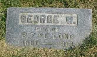 LONG, GEORGE W. - DuPage County, Illinois | GEORGE W. LONG - Illinois Gravestone Photos