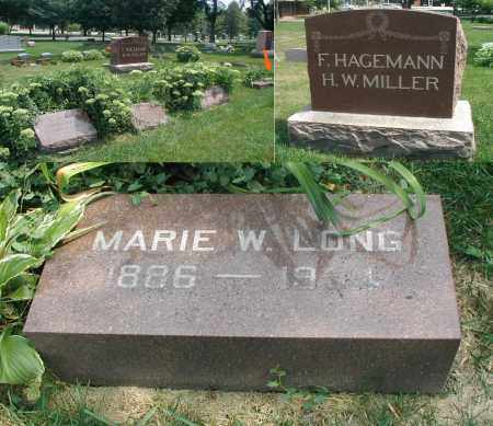 LONG, MARIE W. - DuPage County, Illinois | MARIE W. LONG - Illinois Gravestone Photos