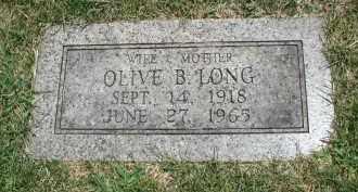 LONG, OLIVE B. - DuPage County, Illinois | OLIVE B. LONG - Illinois Gravestone Photos