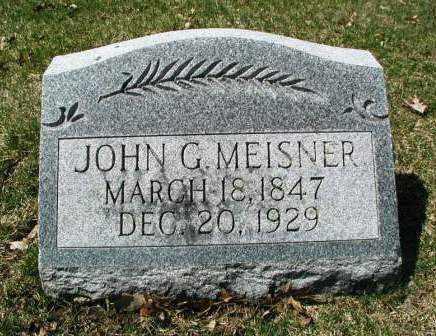 MEISNER, JOHN G. - DuPage County, Illinois | JOHN G. MEISNER - Illinois Gravestone Photos