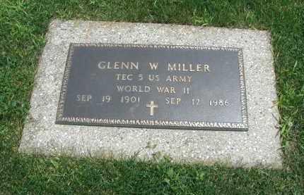 MILLER, GLENN W. - DuPage County, Illinois | GLENN W. MILLER - Illinois Gravestone Photos