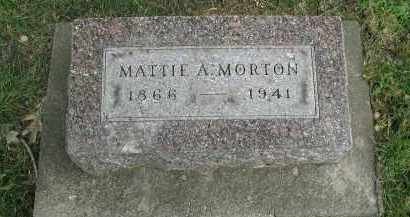 MORTON, MATTIE A. - DuPage County, Illinois | MATTIE A. MORTON - Illinois Gravestone Photos