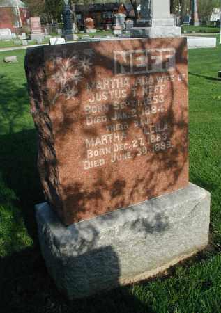 NEFF, MARTHA LEILA - DuPage County, Illinois | MARTHA LEILA NEFF - Illinois Gravestone Photos