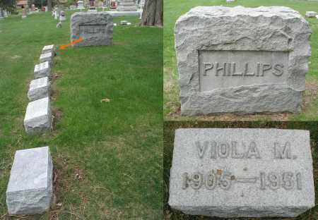 PHILLIPS, VIOLA M. - DuPage County, Illinois | VIOLA M. PHILLIPS - Illinois Gravestone Photos